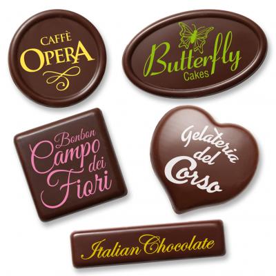 Preformati vuoti per targhette e cioccolatini personalizzati
