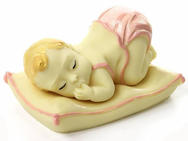 Bebé di cioccolato bianco dipinto a mano