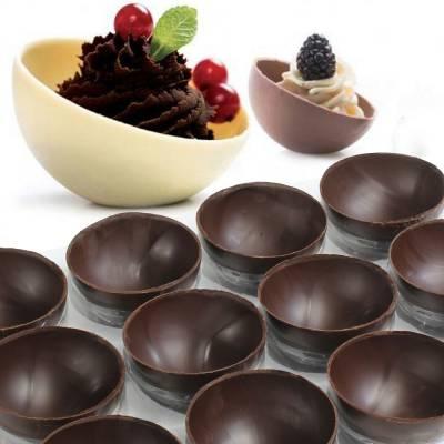 Mezze sfere di cioccolato