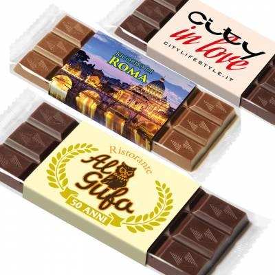 Tavolette di cioccolato personalizzate sulla fascetta
