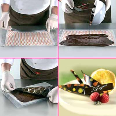 Trasferelli per cioccolato (transfer) personalizzati o pronti per l'uso