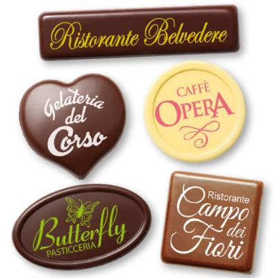 Targhette di cioccolato personalizzate