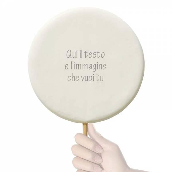 Lecca lecca Tondo gigante - 600 g - 20,5 cm - Lecca lecca di zucchero personalizzati