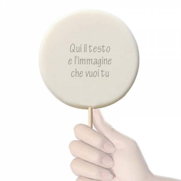 Lecca lecca tondo grande - 120 g - 11,5 cm - Lecca lecca di zucchero personalizzati