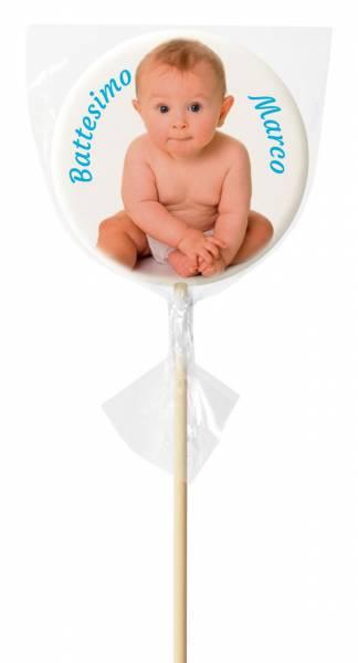 Lecca lecca Tondo medio - 48 g - 7,5 cm - Lecca lecca di zucchero personalizzati