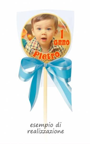 Lecca lecca di cioccolato personalizzati - Lecca di cioccolato Baby tondo - 20 g - 5,4 cm