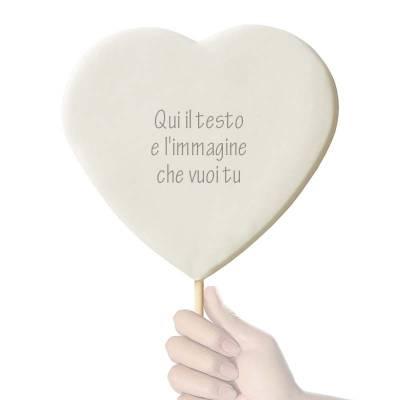 lecca lecca di zucchero con stampate le tue foto e i tuoi messaggi : un regalo simpatico e originale per un compleanno, un anniversario di matrimonio.
