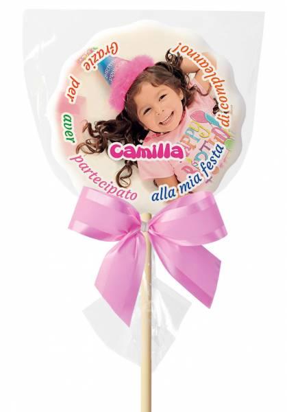 Lecca lecca Nuvola grande, 90 g - 10,5 cm - Marshmallow, Caramelle, Leccalecca, Tavolette, Confetti e Cioccolatini personalizzati - Lecca lecca di zucchero personalizzati