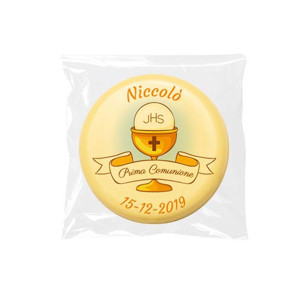 Cioccolatino bianco tondo - 9 g - 4 cm - Cioccolatini personalizzati
