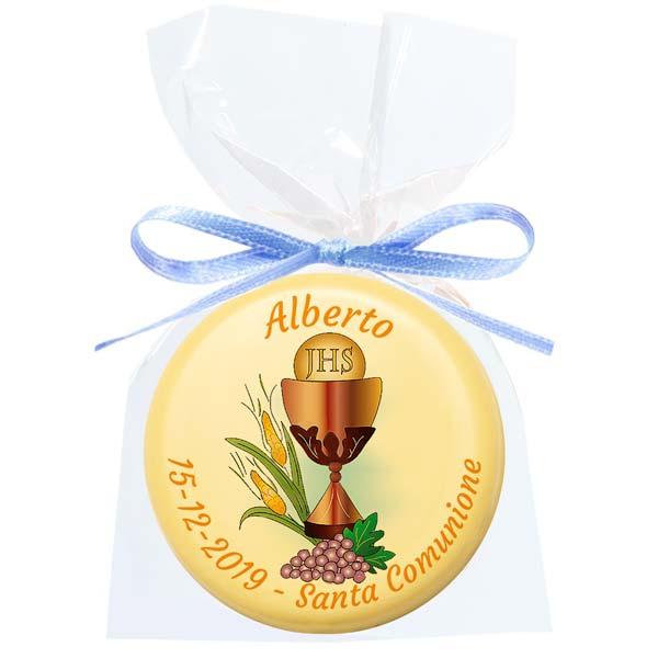 Cioccolatino bianco tondo - 15 g - 5,4 cm - Cioccolatini personalizzati