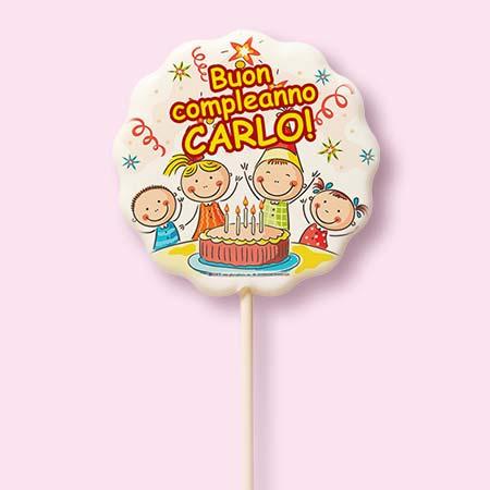 Campione virtuale del cioccolatino, lecca lecca, caramella o marshmallow da personalizzare