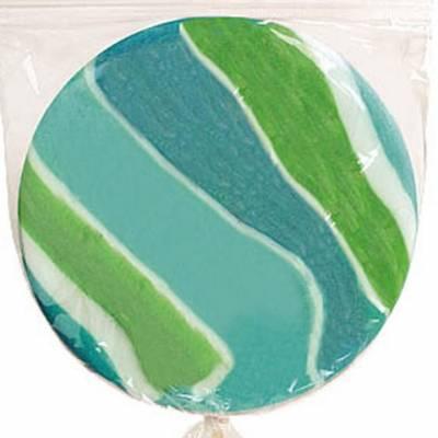 Maxi Lollipop di forma tonda, colori variegati e aroma frutta