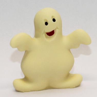 Fantasmino di cioccolato bianco decorato a mano.