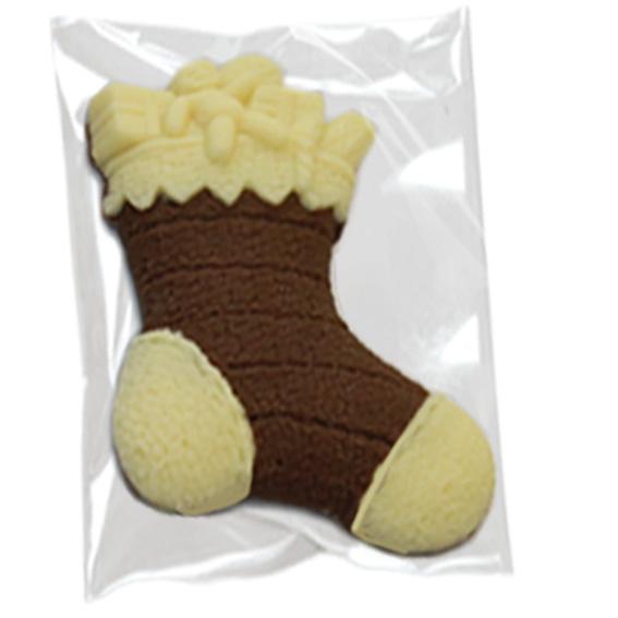 Deliziosa calza della Befana fatta di cioccolato