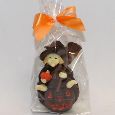 Confezione di Strega di Halloween con fiocco arancione