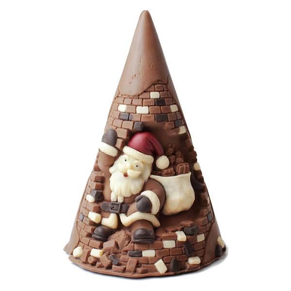 Babbo Natale su Albero di Natale ai tre cioccolati - Cioccolato di Natale