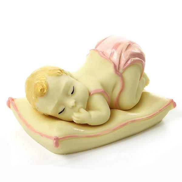 """""""Bebè su cuscino"""" di cioccolato - Battesimo e nascita"""