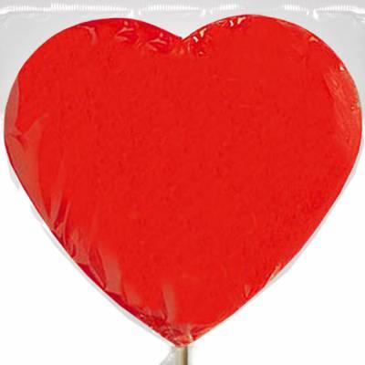 Lollipop gigante a forma di Cuore, color rosso e aroma fragola
