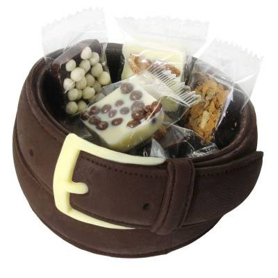 """Compleanno e Ricorrenze - """"Cintura da uomo"""" di cioccolato"""
