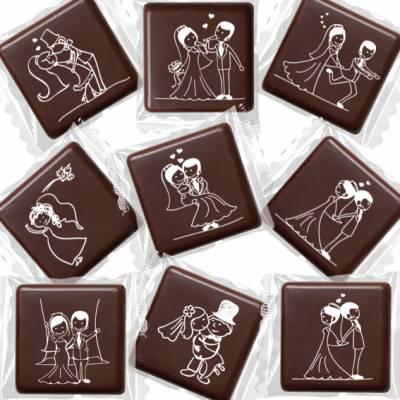 "Matrimonio - Cioccolatini con ""Scenette Sposi"""