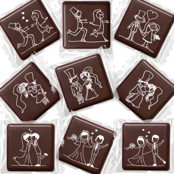 """Cioccolatini con """"Scenette Sposi"""" - Matrimonio, Anniversari, S.Valentino"""