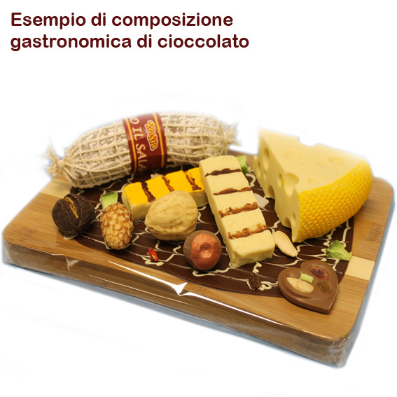 """Gastronomia di cioccolato - """"Emmenthal"""" di cioccolato bianco"""