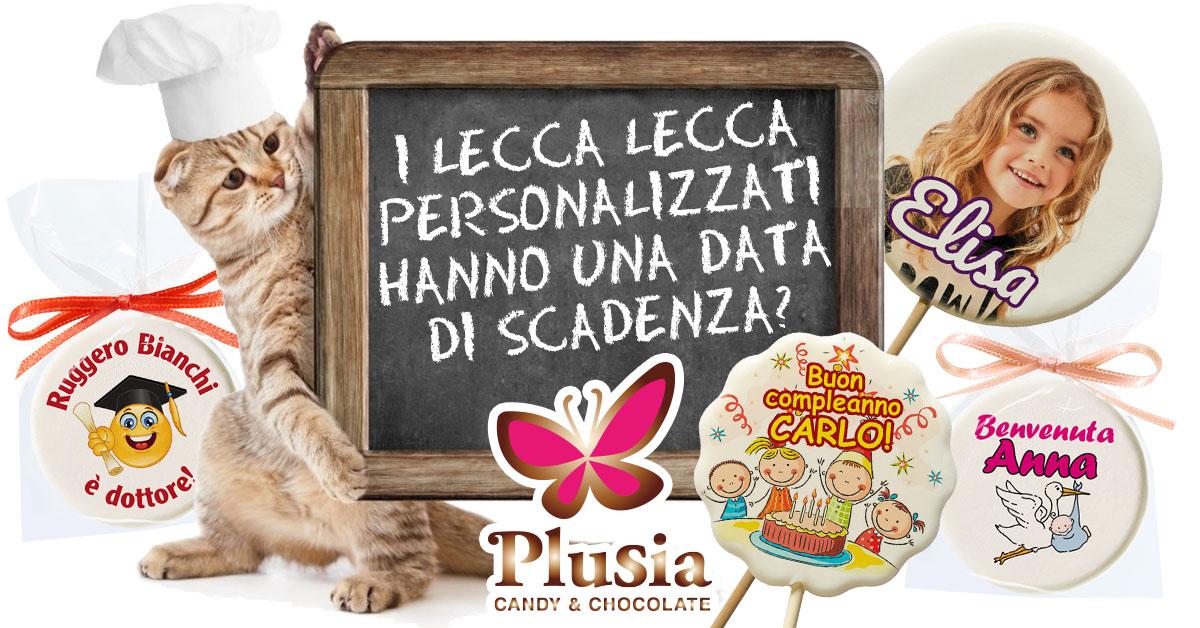 I lecca lecca personalizzati creati da Plusia hanno una data di scadenza?
