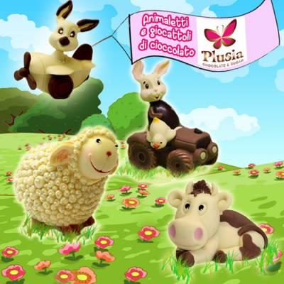 Animali e giochi di cioccolato