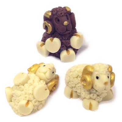 Cioccolato Natale - Uova di Pasqua - Tris Arieti di cioccolato