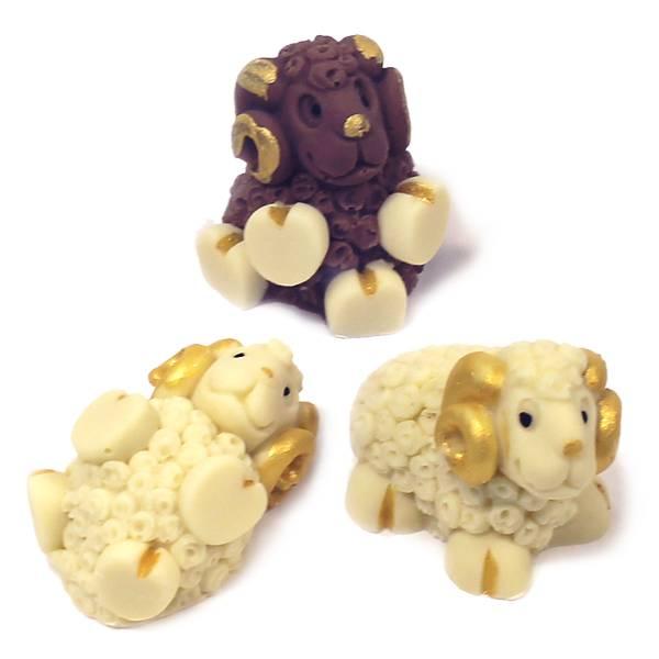 Tris Arieti di cioccolato - Uova di Pasqua - Natale di Cioccolato