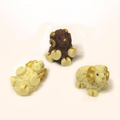 Animali e giochi di cioccolato - Tris Arieti di cioccolato