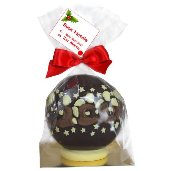 Angeli su sfera natalizia di cioccolato - Cioccolato di Natale