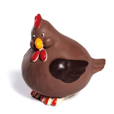 Animali e giochi di cioccolato - Uova di Pasqua - Gallinotta di cioccolato