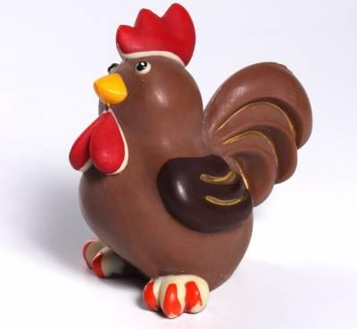 Animali e giochi di cioccolato - Uova di Pasqua - Gallo di cioccolato