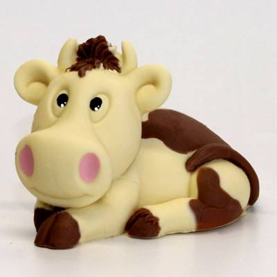 mucca cioccolato bianco e latte