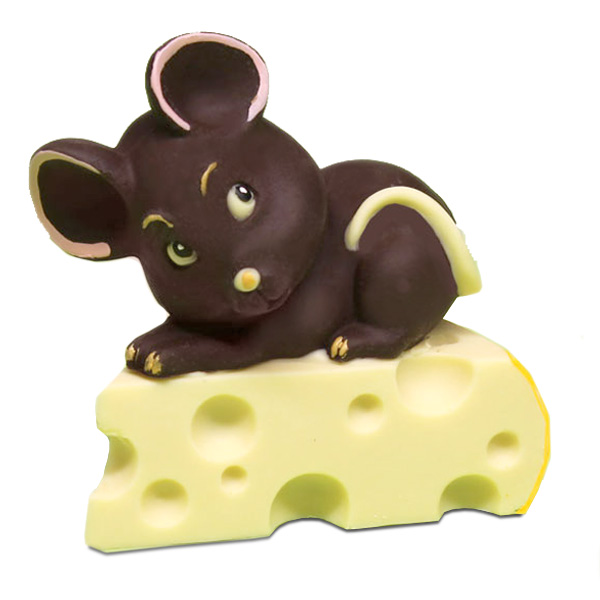 Topolino di cioccolato sul formaggio - Compleanno e Ricorrenze - Natale di Cioccolato - Uova di Pasqua