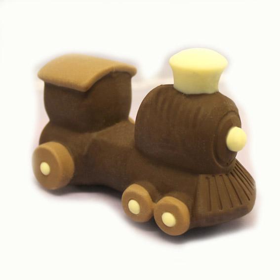 locomotiva di cioccolato fondente