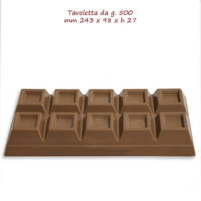 Block da 500 grammi di cioccolato da scegliere tra il Bianco, il Latte ed il Fondente.