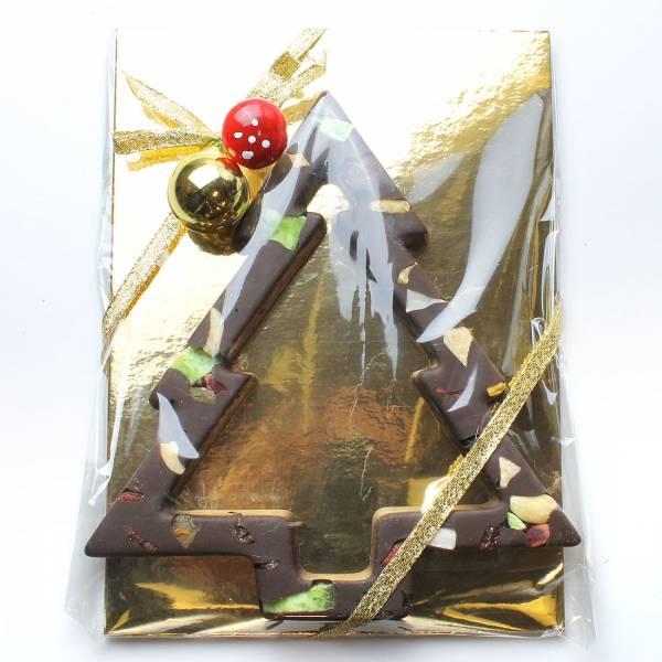Albero di Natale di cioccolato farcito con frutta secca e canditi - Cioccolato di Natale