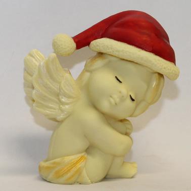 Natale - Putto con berretto natalizio