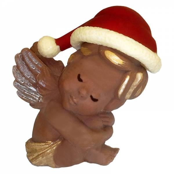 Angioletto di cioccolato con berretto natalizio - Cioccolato di Natale