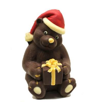Cioccolato Natale - Orsacchiotto con pacchetto