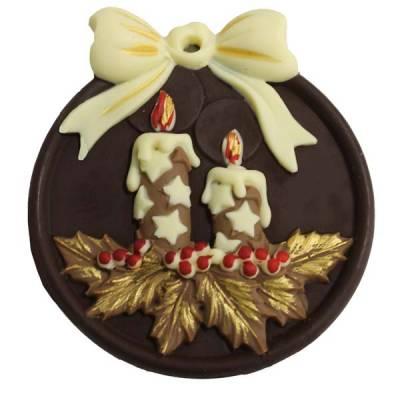 ciondolo di cioccolato appendbili per albero di natale