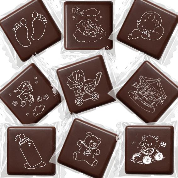 """Cioccolatini """"Scenette Bebè"""" - Battesimo e nascita"""