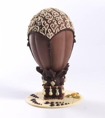 """Uova di Pasqua - Uovo di Pasqua """"Mongolfiera con coniglietti"""""""