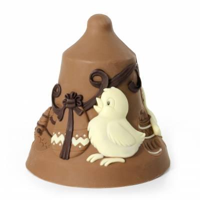 Uova di Pasqua - Campana Pasquale di cioccolato con Pulcini
