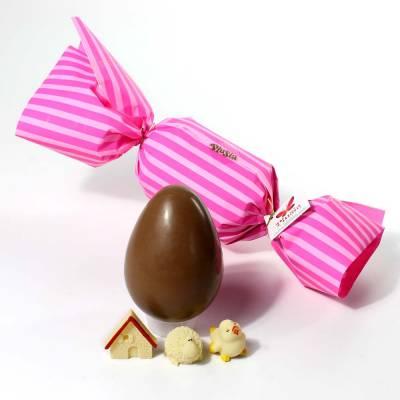 """Uova di Pasqua - Uova di cioccolato con incarto a """"Caramella"""""""