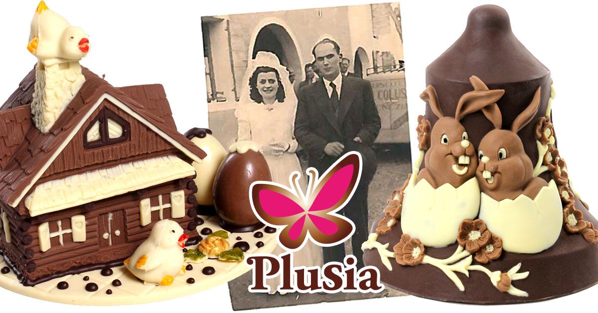Nelle Uova di Pasqua artigianali di Plusia ci sono 70 anni di storia