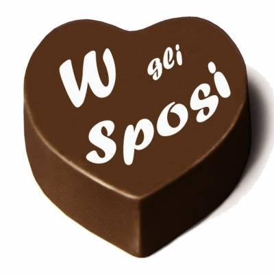 """Matrimonio - Cioccolatino cuore """"W gli Sposi"""""""