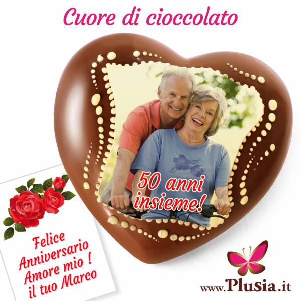 Cuore di cioccolato personalizzato con messaggio all'interno - Cuore di cioccolato personalizzato